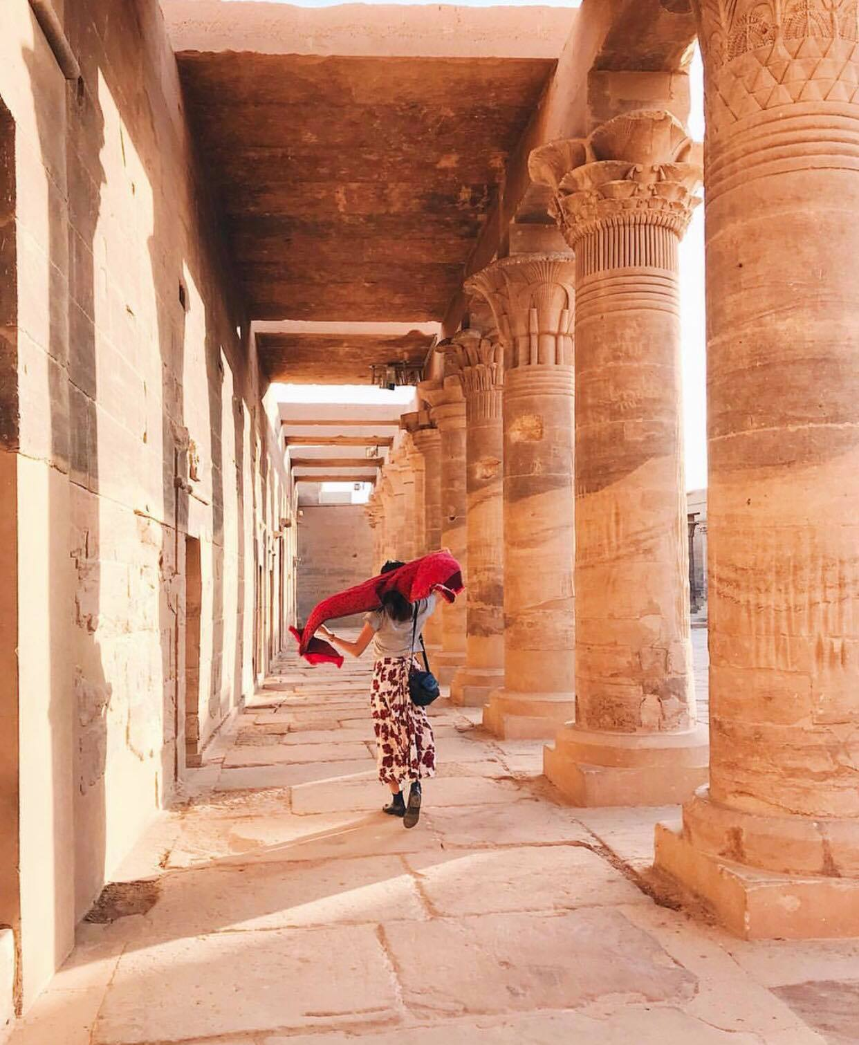 Girl in Philae temple