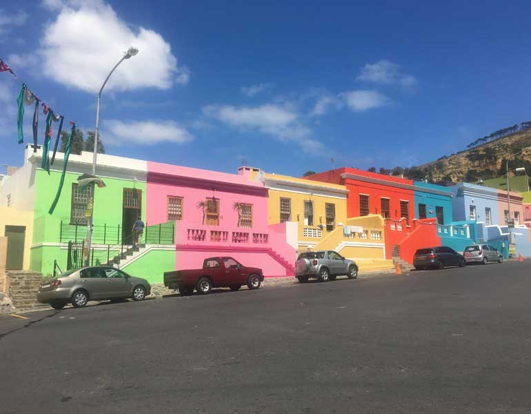 Colourful houses in Bo-Kaap