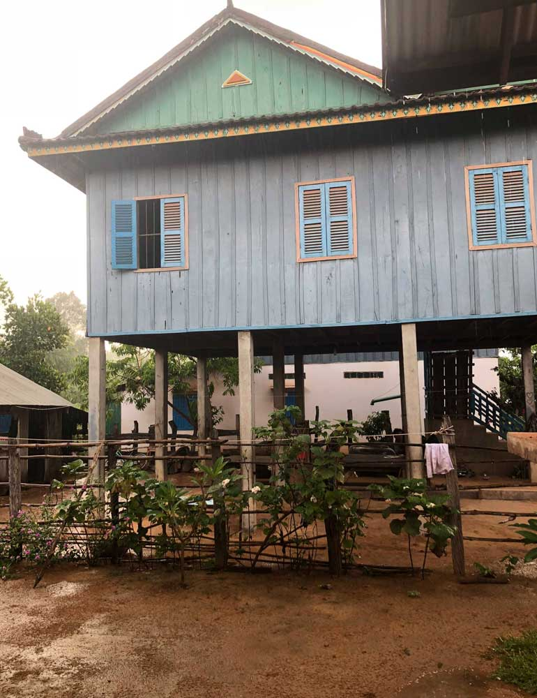 Cambodian homestay house