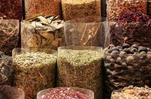 Dubai marketplace and spices