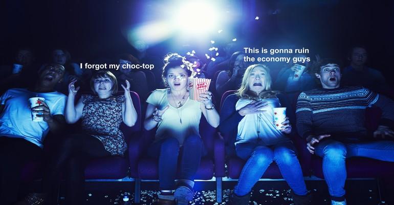 People at movie cinema