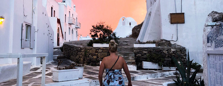 Mykonos at sunset