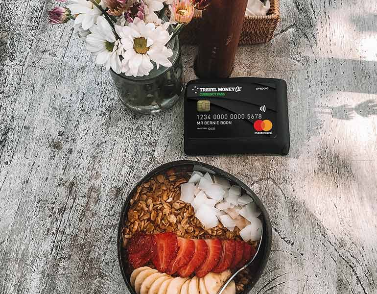 Currency Pass and coffee