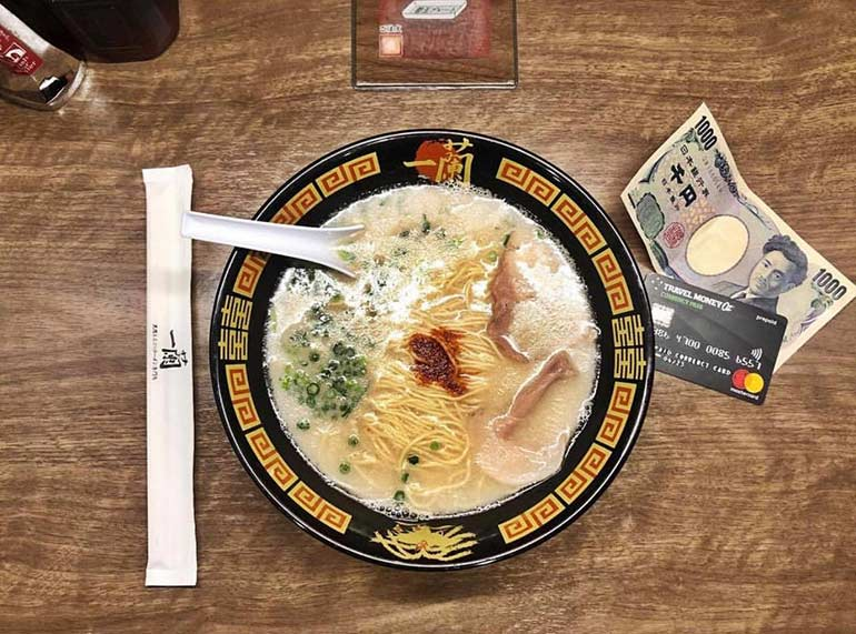 Currency Pass and ramen