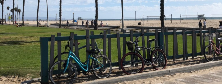 Bike ride in santa monica
