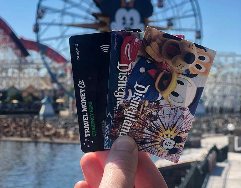 Currency pass with disney ticket