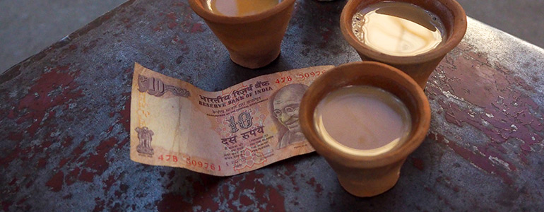 Chai Massala tea in terracotta cups