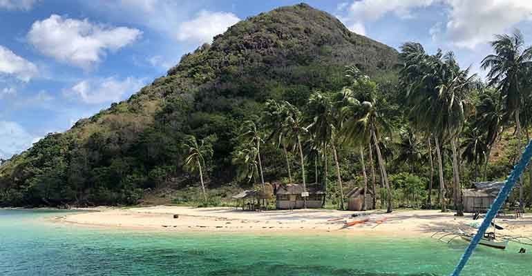 Island beach in the Philippines