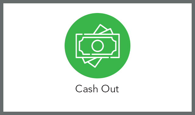 Cash out FAQ tile