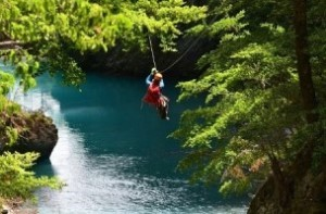 zip lining in Queenstown
