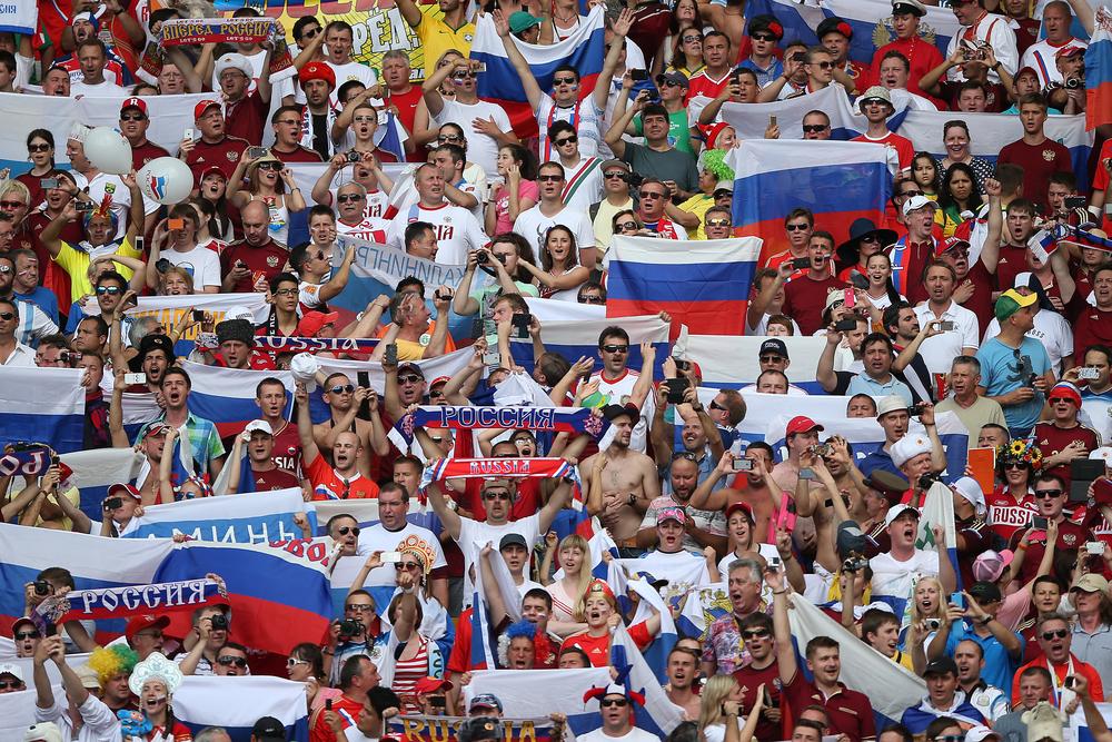 Russian soccer fans