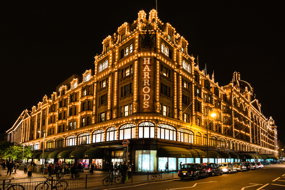 Harrods shopping mall London
