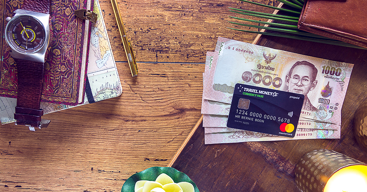 Thai baht and currency pass