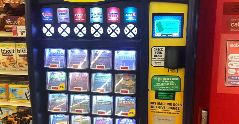 Lotto vending machine