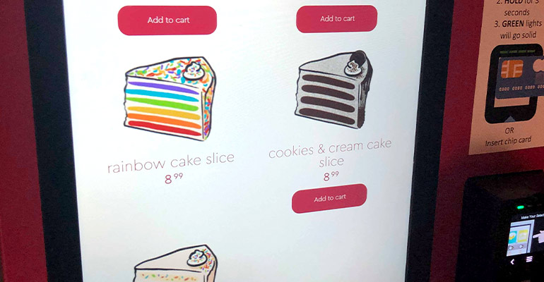 Cake vending machine