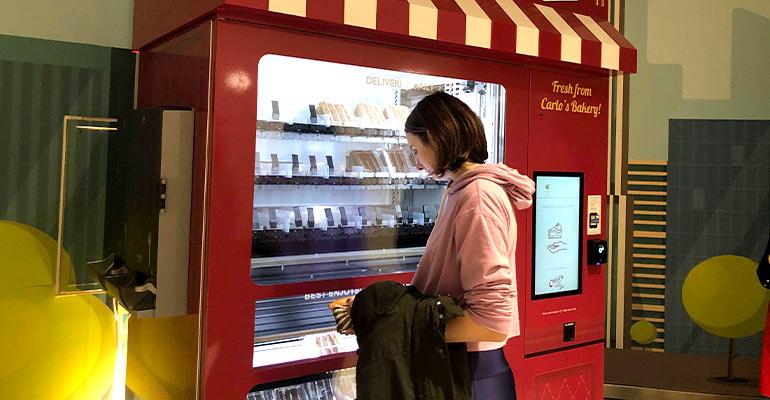 Cake vending machine