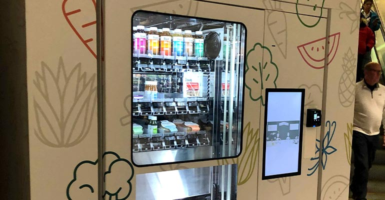 Health food vending machine