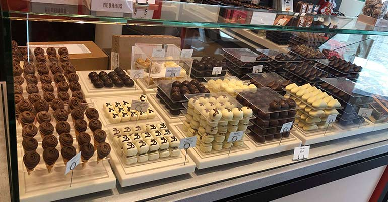 Chocolate tasting in Belgium