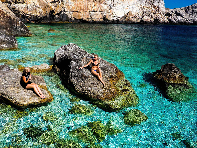 Girls in Ios, Greece