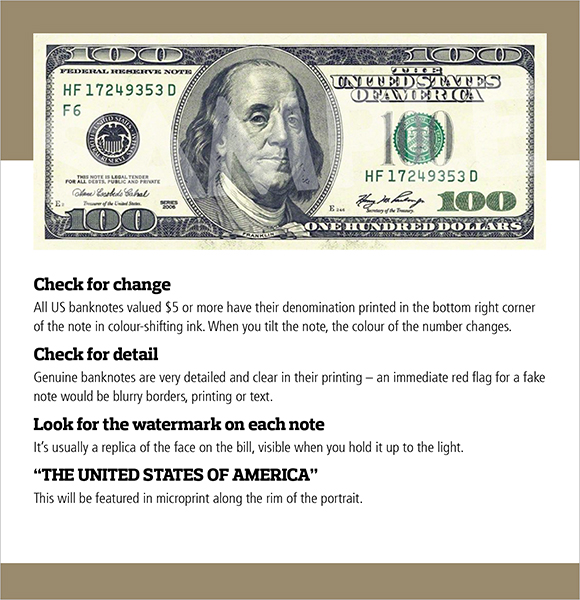 How to Spot a Fake US Dollar Banknote