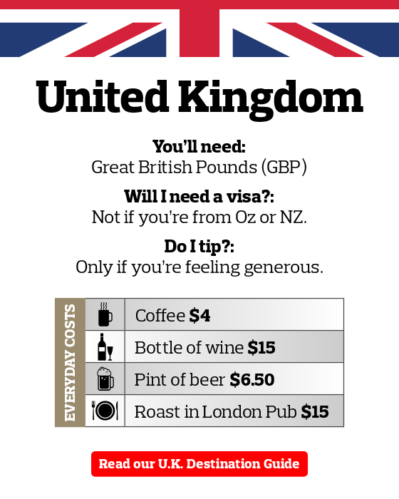 UK Pocket Travel Money Guide