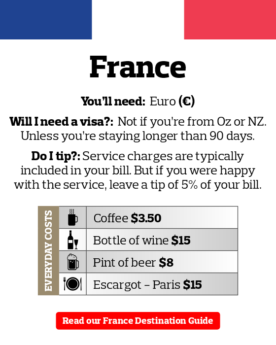 France Travel Money Guide