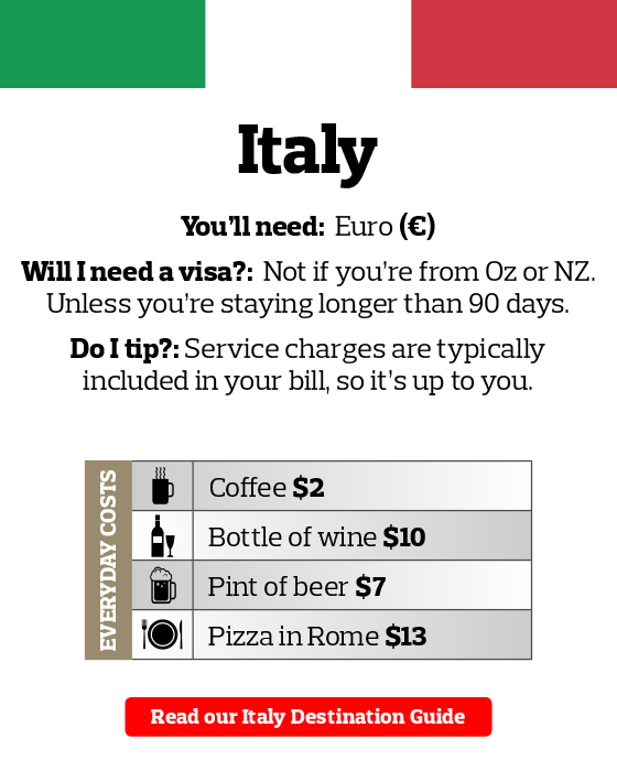 Italy Travel Money Guide