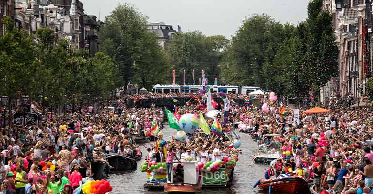 Pride celebration Amsterdam