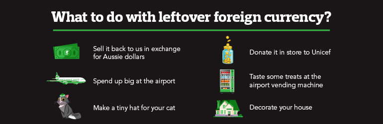What to do with leftover foreign currency