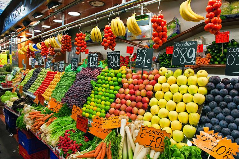 Fruit at Spanish markets
