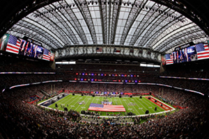 Stadium during NFL game