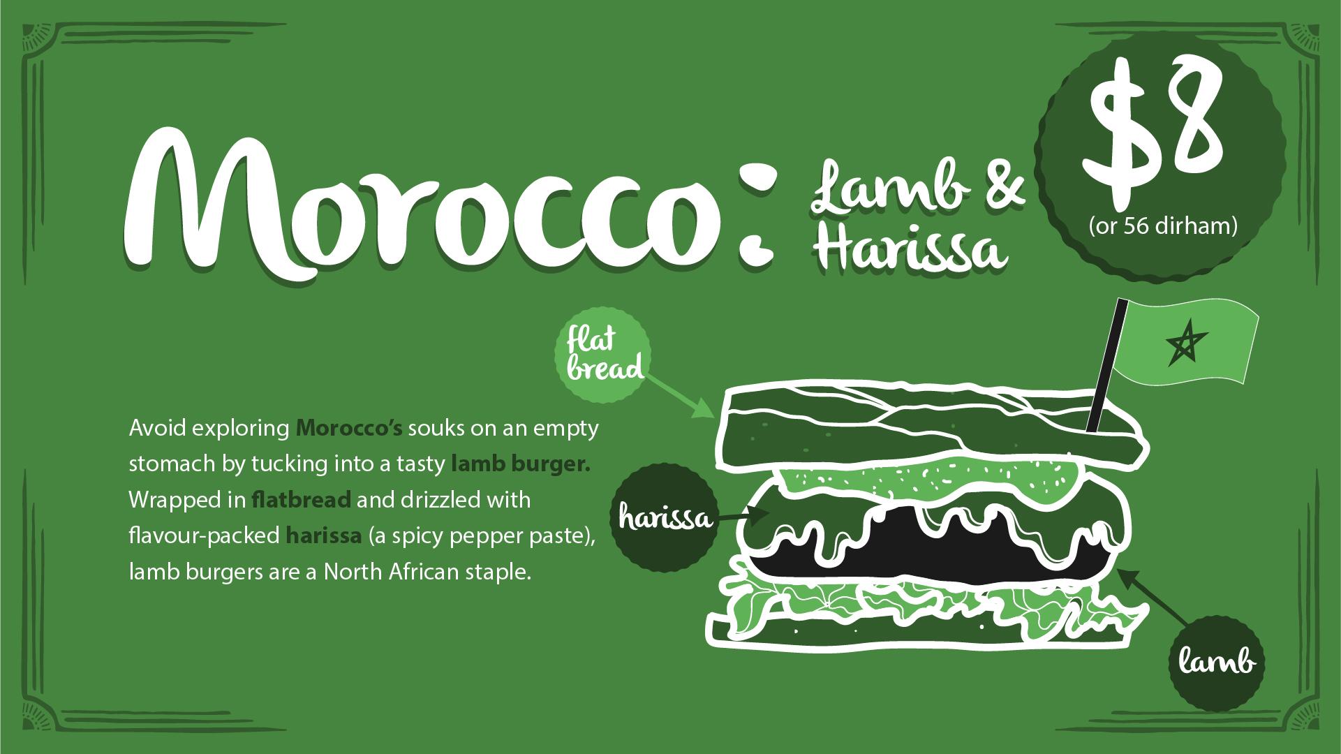 Morocco burger