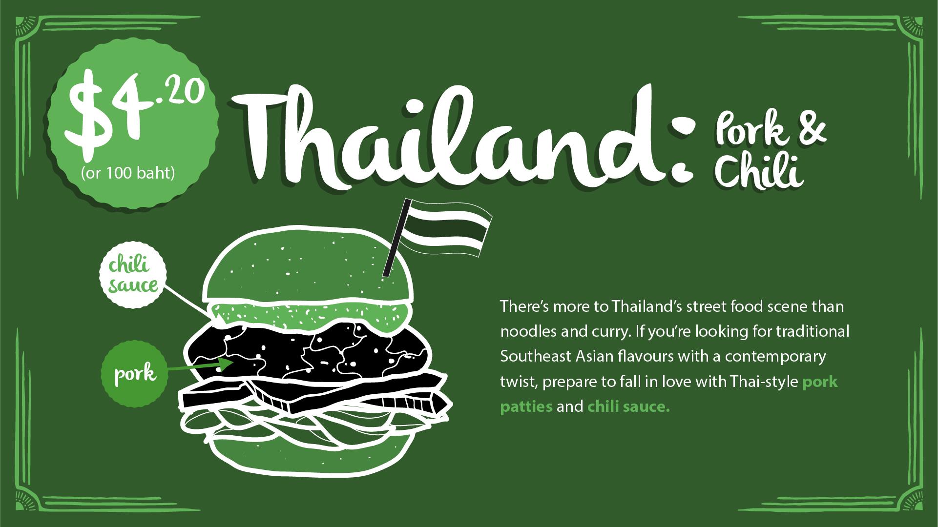 Thailand burger