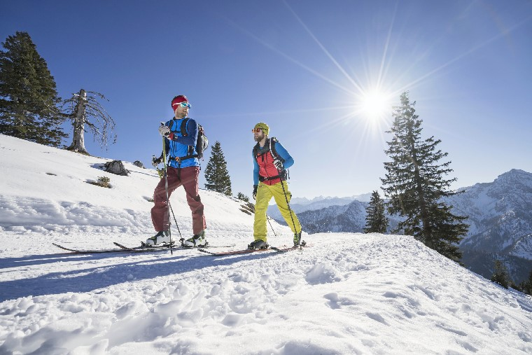 Male skiiers on mountain