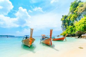 Boats on thailand beach