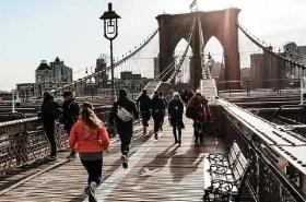 New York Bridge Morning