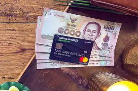 Thai Baht flatlay