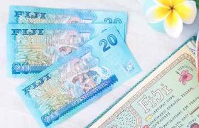 Fijian dollars on table