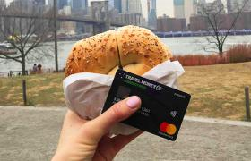 Currency Pass and bagel