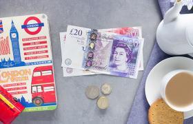 Great british pound and tea