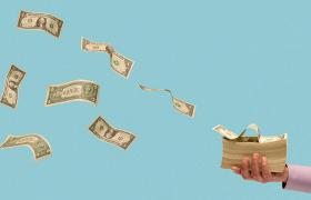 Money flying