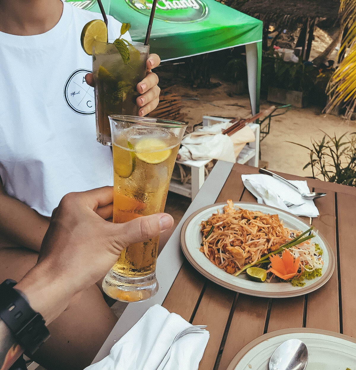 Pad Thai and cocktails in patong